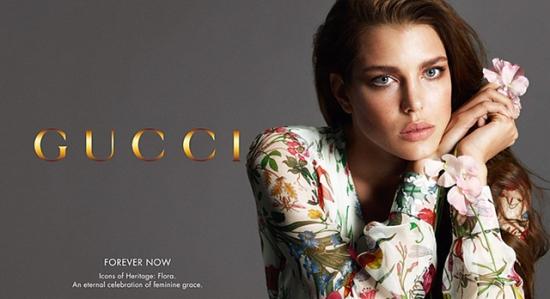 La princesa Carlota de M—naco en los anuncios de la campa–a Primavera Verano 2013 de Gucci Forever Now.